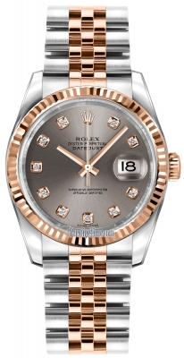 Rolex Datejust 36mm Stainless Steel and Rose Gold 116231 Steel Diamond Jubilee