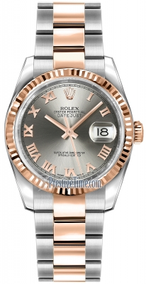 Rolex Datejust 36mm Stainless Steel and Rose Gold 116231 Steel Roman Oyster