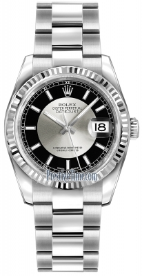 Rolex Datejust 36mm Stainless Steel 116234 Black/Silver Index Oyster