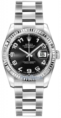 Rolex Datejust 36mm Stainless Steel 116234 Black Concentric Arabic Oyster