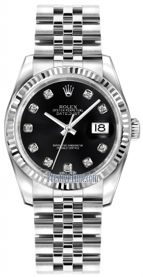 Rolex Datejust 36mm Stainless Steel 116234 Black Diamond Jubilee