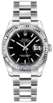 Rolex Datejust 36mm Stainless Steel 116234 Black Index Oyster