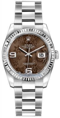 Rolex Datejust 36mm Stainless Steel 116234 Bronze Floral Oyster
