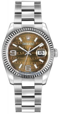 Rolex Datejust 36mm Stainless Steel 116234 Bronze Wave Oyster