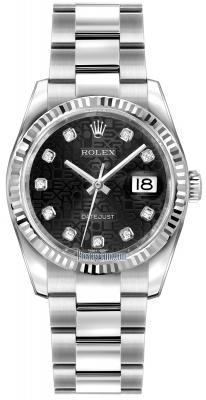 Rolex Datejust 36mm Stainless Steel 116234 Jubilee Black Diamond Oyster