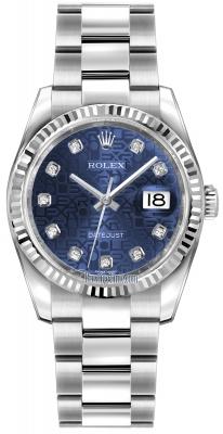 Rolex Datejust 36mm Stainless Steel 116234 Jubilee Blue Diamond Oyster