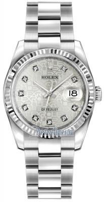 116234 Jubilee Silver Diamond Oyster
