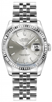Rolex Datejust 36mm Stainless Steel 116234 Silver Index Jubilee