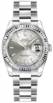 Rolex Datejust 36mm Stainless Steel 116234 Silver Index Oyster