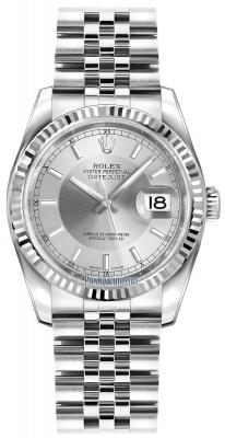 Rolex Datejust 36mm Stainless Steel 116234 Silver/Rhodium Index Jubilee