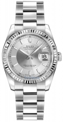 116234 Silver/Rhodium Index Oyster