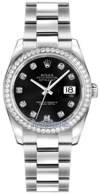 Rolex Datejust 36mm Stainless Steel 116244 Black Diamond Oyster