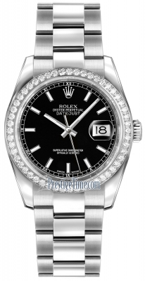 Rolex Datejust 36mm Stainless Steel 116244 Black Index Oyster