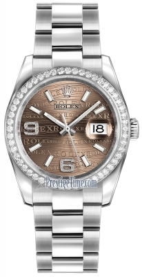 Rolex Datejust 36mm Stainless Steel 116244 Bronze Wave Oyster