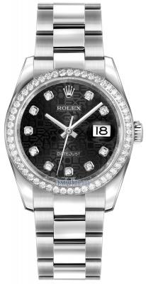 Rolex Datejust 36mm Stainless Steel 116244 Jubilee Black Diamond Oyster