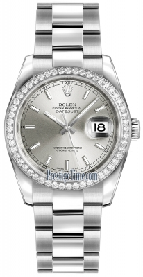 Rolex Datejust 36mm Stainless Steel 116244 Silver Index Oyster