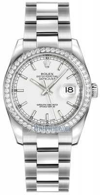 Rolex Datejust 36mm Stainless Steel 116244 White Index Oyster
