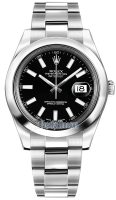 Rolex Oyster Perpetual Datejust II 116300 Black Index