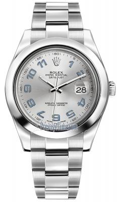 Rolex Oyster Perpetual Datejust II 116300 Rhodium Arabic