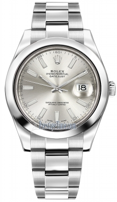 Rolex Oyster Perpetual Datejust II 116300 Silver Index