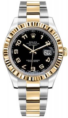 Rolex Oyster Perpetual Datejust II 116333 Black Arabic