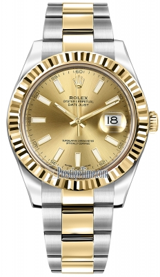 Rolex Oyster Perpetual Datejust II 116333 Champagne Index