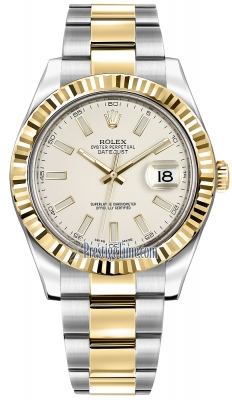 Rolex Oyster Perpetual Datejust II 116333 Ivory Index