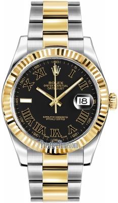 Rolex Oyster Perpetual Datejust II 116333 Black Roman