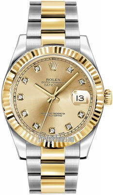 Rolex Oyster Perpetual Datejust II 116333 Champagne Diamond
