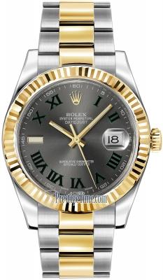 Rolex Oyster Perpetual Datejust II 116333 Slate Roman