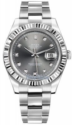 Rolex Oyster Perpetual Datejust II 116334 Rhodium Diamond