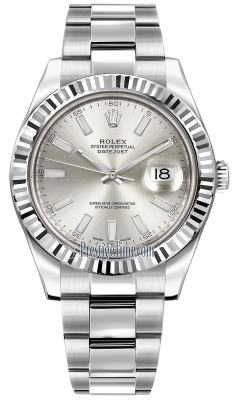 Rolex Oyster Perpetual Datejust II 116334 Silver Index