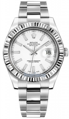 Rolex Oyster Perpetual Datejust II 116334 White Index