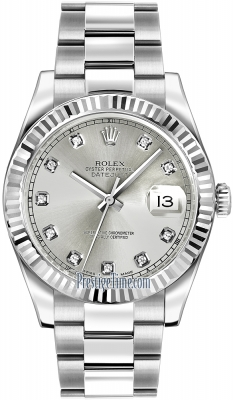 Rolex Oyster Perpetual Datejust II 116334 Silver Diamond