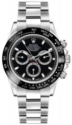 Rolex Cosmograph Daytona Stainless Steel 116500LN Black