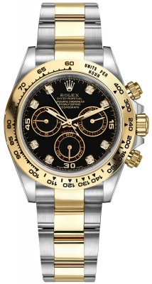 Rolex Cosmograph Daytona Steel and Gold 116503 Black Diamond Oyster