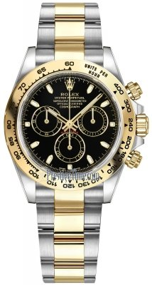 Rolex Cosmograph Daytona Steel and Gold 116503 Black Index Oyster