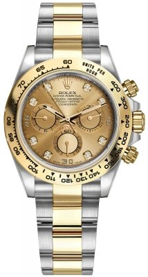 Rolex Cosmograph Daytona Steel and Gold 116503 Champagne Diamond Oyster