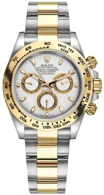 Rolex Cosmograph Daytona Steel and Gold 116503 White Index Oyster