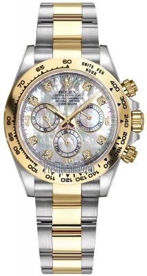 Rolex Cosmograph Daytona Steel and Gold 116503 White MOP Diamond Oyster