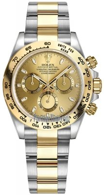 Rolex Cosmograph Daytona Steel and Gold 116503 Champagne Index Oyster