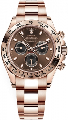 Rolex Cosmograph Daytona Everose Gold 116505 Chocolate Black Index