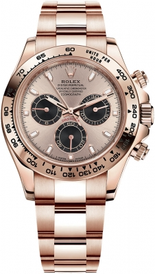 Rolex Cosmograph Daytona Everose Gold 116505 Sundust Black Index