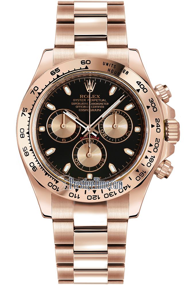 116505 black and pink index rolex cosmograph daytona