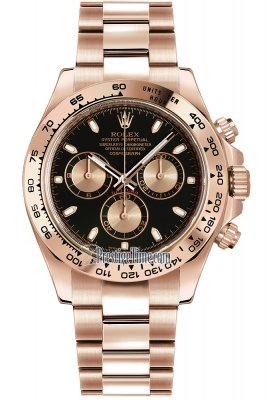 Rolex Cosmograph Daytona Everose Gold 116505 Black and Pink Index