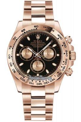 Rolex Cosmograph Daytona Everose Gold 116505 Black and Pink Index