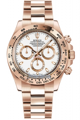 Rolex Cosmograph Daytona Everose Gold 116505 Ivory Index