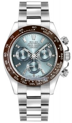 Rolex Cosmograph Daytona Platinum 116506LN Ice Blue Baguette Index