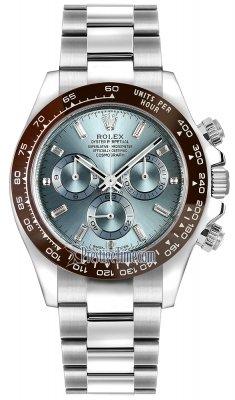 Rolex Cosmograph Daytona Platinum 116506 Ice Blue Baguette