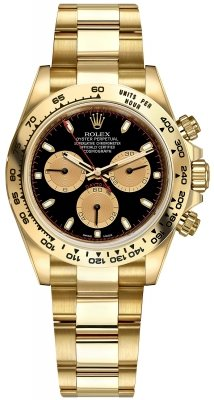 Rolex Cosmograph Daytona Yellow Gold 116508 Black Champagne Index Oyster